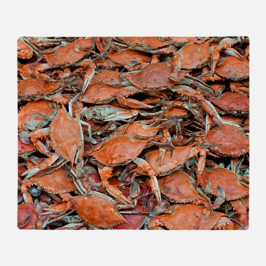 blue crabs glovesf Throw Blanket