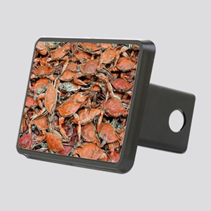 blue crabs glovesf Rectangular Hitch Cover