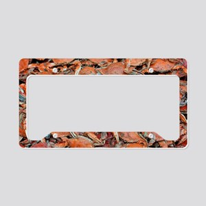 blue crabs glovesf License Plate Holder