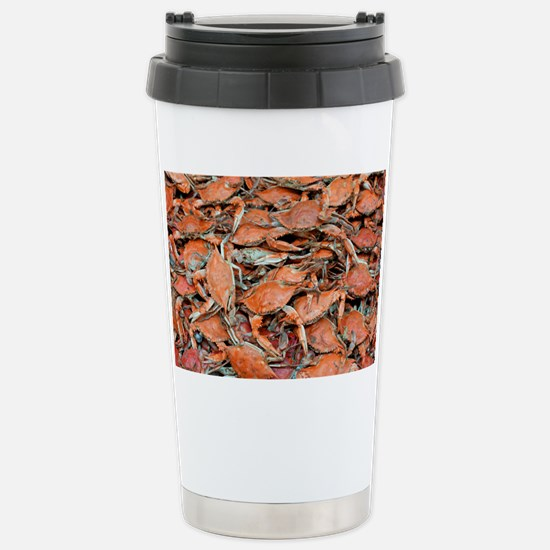 blue crabs glovesf Stainless Steel Travel Mug