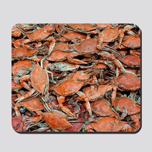 blue crabs glovesf Mousepad