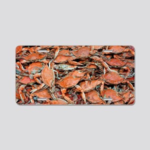 blue crabs glovesf Aluminum License Plate
