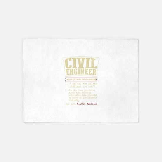 Civil Engineer Dictionary Term T-Sh 5'x7'Area Rug