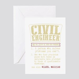Civil Engineer Dictionary Term T-Sh Greeting Cards