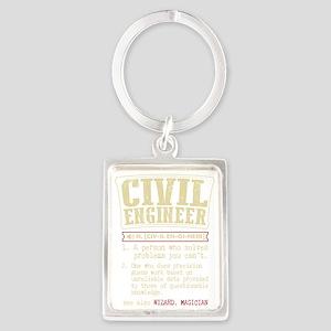Civil Engineer Dictionary Term T-Shirt Keychains