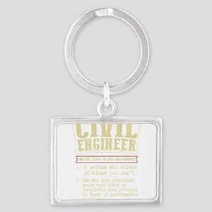 Civil Engineer Dictionary Term T-Shirt Keychains