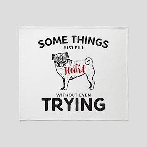 Pugs Throw Blanket