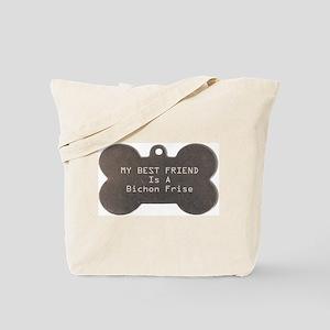 Friend Bichon Tote Bag