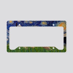 LIC-Starry Night - Two Brusse License Plate Holder