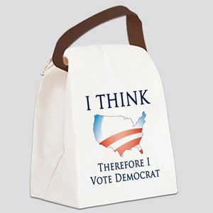Think - Vote Democrat Canvas Lunch Bag