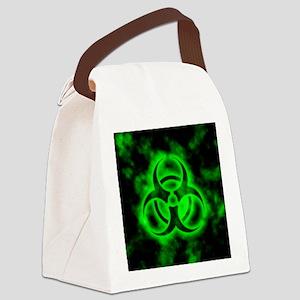glowingBiohazardGreen Canvas Lunch Bag