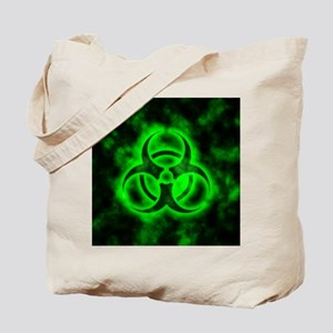 glowingBiohazardGreen Tote Bag
