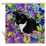 Freckles in Butterflies II Shower Curtain