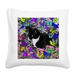 Freckles in Butterflies II Square Canvas Pillow
