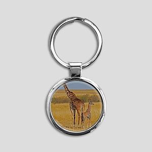 01 2006-0825 (450) Kenya - Masai Ma Round Keychain
