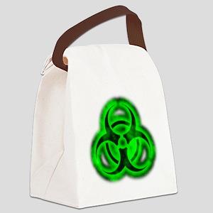 glowingBiohazardGreenTCrop Canvas Lunch Bag