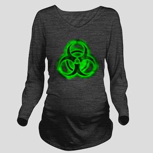 glowingBiohazardGree Long Sleeve Maternity T-Shirt