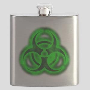 glowingBiohazardGreenTCrop Flask