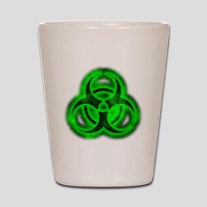 glowingBiohazardGreenTCrop Shot Glass