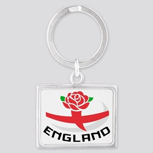 Rugby England English Rose Ball Landscape Keychain