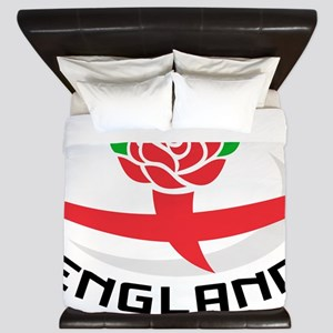 Rugby England English Rose Ball Flag King Duvet
