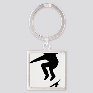 skateboarder Square Keychain