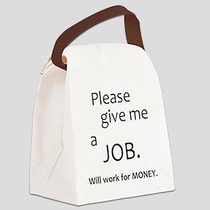JobSmall Canvas Lunch Bag