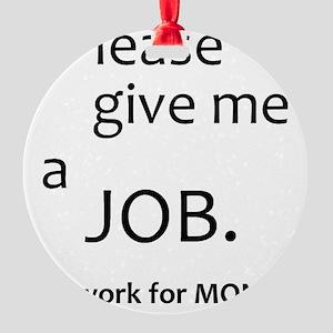JobSmall Round Ornament
