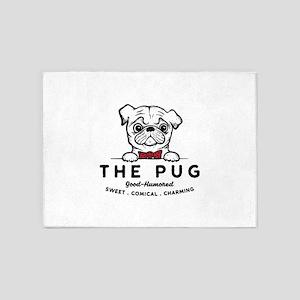 The Pug 5'x7'Area Rug