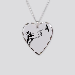 Trumpet Pad4 Necklace Heart Charm