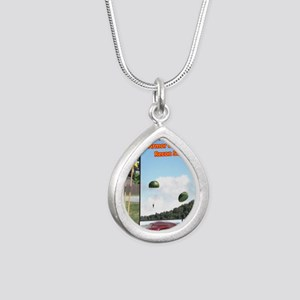 airbornestan Silver Teardrop Necklace
