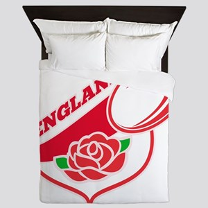 Rugby England English Rose Ball Shield Queen Duvet