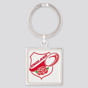 Rugby England English Rose Ball Sh Square Keychain