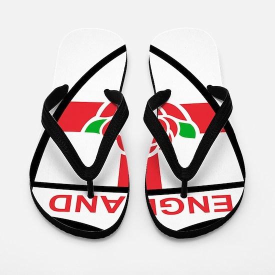 Rugby England English Rose Shield Flip Flops