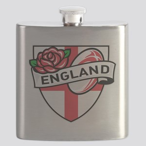 Rugby England English Rose Ball Shield Flask