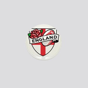 Rugby England English Rose Ball Shield Mini Button