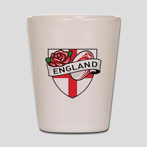 Rugby England English Rose Ball Shield Shot Glass