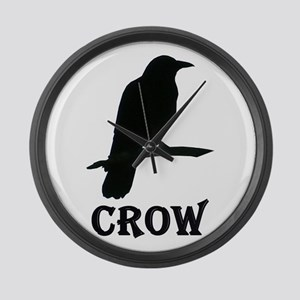 Crow Large Wall Clock
