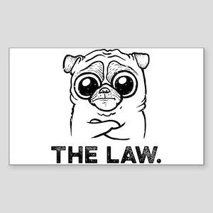 Pug Law Sticker (Rectangle)