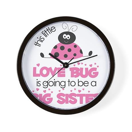 MASTER BUGS - ladybug and bees pink smi Wall Clock