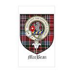 MacBean Clan Crest Tartan Rectangle Sticker