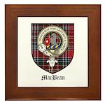 MacBean Clan Crest Tartan Framed Tile