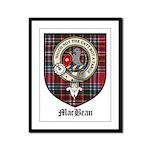 MacBean Clan Crest Tartan Framed Panel Print