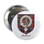 MacBean Clan Crest Tartan 2.25
