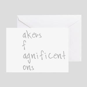 MOMS white Greeting Card