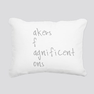MOMS white Rectangular Canvas Pillow