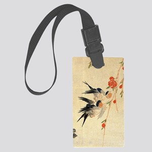 Swallow and peach flowers.travel Large Luggage Tag