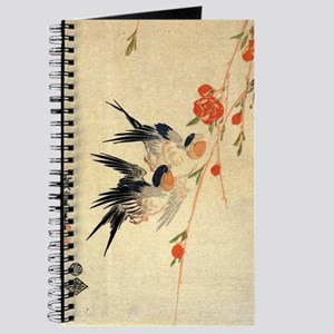 Swallow and peach flowers.travel.p3 Journal