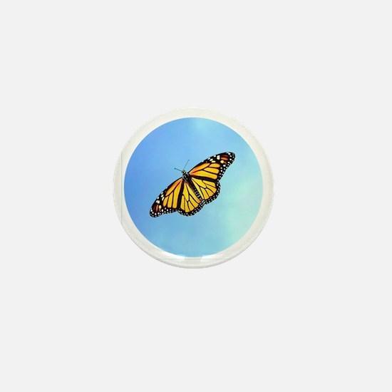 Monarch Butterfly Earrings, Charms Mini Button