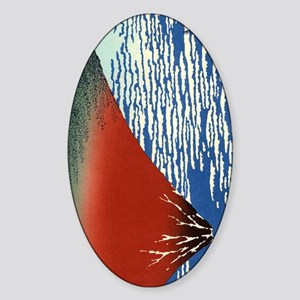 red-fuji.p3 Sticker (Oval)